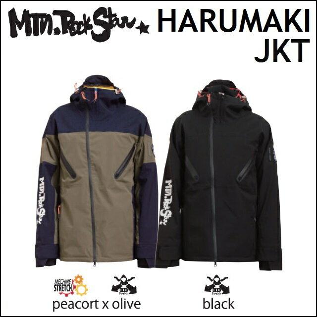 18-19 MOUNTAIN ROCK STAR マウンテンロックスター ウエア HARUMAKI JACKET ハルマキ ジャケット OLIVE、BLACK