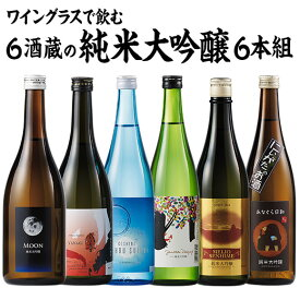 ワイングラスで飲む純米大吟醸6蔵 日本酒飲みくらべセット 純米大吟醸 送料無料 お酒 日本酒 飲み比べ