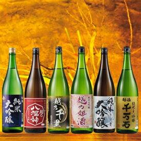 【約54%OFF!】特割!越乃六蔵 純米大吟醸飲みくらべ一升瓶6本組
