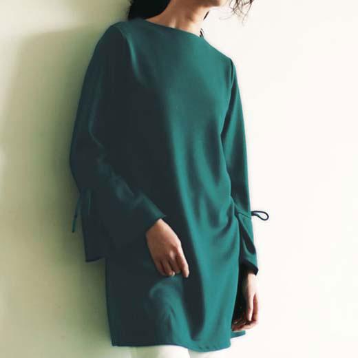 ●アウトレット●チュニック M LL L フェミニン袖カットソーチュニック ベルーナ ラナン Ranan 30代 40代 ファッション レディース 体型カバー 在庫限り セール 半額以下 【半額以下】