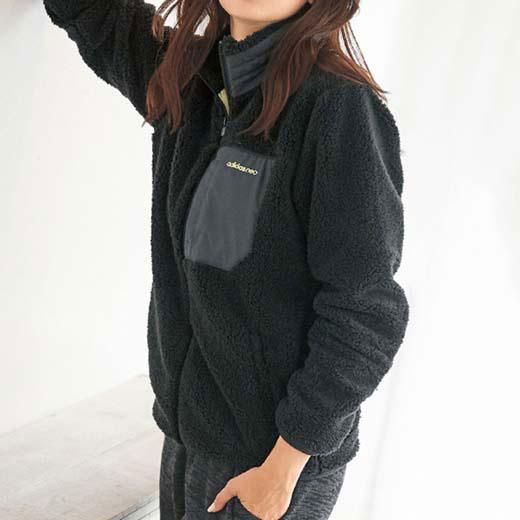 ブルゾン アウター S M L <adidas neo>ボアジャケット ベルーナ ラナン Ranan 30代 40代 ファッション レディース アウター 羽織り コート レディース ブルゾン アディダス ネオ adidas アディダス スポーツブランド