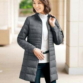 ロングコート 3L 4L 5L 軽量ダウンロングコート(ポーチ付)(3L〜5L) ベルーナ Belluna 40代 50代 60代 レディース ミセス 大人 ファッション 春 春服 ロング コート アウター 羽織 スプリングコート 大きいサイズ