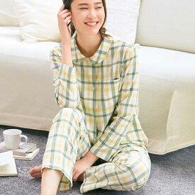 パジャマ 3L 4L 5L 綿100%のやさしさ満点シャツパジャマ(3L〜5L) ベルーナ 30代 40代 50代 ミセス レディース ファッション 春 春服 ルームウェア 大きいサイズ