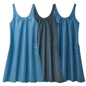 【在庫残りわずか】エプロン 3L 4L 5L 【3色組】ダンガリーワンピースエプロン(3L〜5L) ベルーナ 30代 40代 50代 ミセス レディース ファッション 春 春服 大きいサイズ
