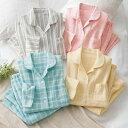 パジャマ 3L 4L 5L 綿100%前開きWガーゼパジャマ(3L〜5L) ベルーナ 30代 40代 50代 ミセス レディース ファッション 春 春服 ルームウェア 大きいサイズ