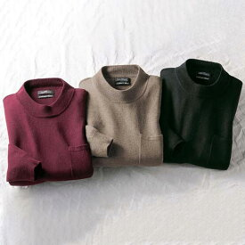 ニットプルオーバー S M L LL 3L 【3色組】高品質!カシミヤ入りハイネックセーター(S〜3L) ベルーナ Belluna 40代 50代 60代 メンズ 紳士 ミセス 大人 ファッション 春 春服 ニットプルオーバートップス