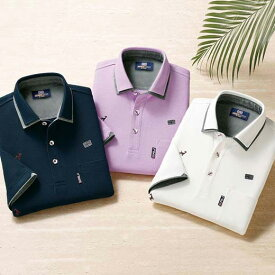 ポロシャツ S M LL L 3L <ミチコ ロンドン ジーンズ>エンブロイドデザインポロシャツ ベルーナ 40代 50代 60代 紳士 夏服 ファッション メンズ メンズライフ ファッション ポロシャツ 小さいサイズ