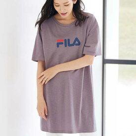Tシャツ 3L 4L 5L <FILA>ビッグシルエットTシャツ(3L〜5L) ベルーナ Belluna 40代 50代 60代 レディース ミセス 大人 ファッション 夏 夏服 シャツ トップス 大きいサイズ