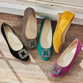 ≪14%OFF≫●アウトレット●パンプス幅広ゆったりアーモンドトゥビジューパンプス(22.5cm〜26.0cm) ベルーナ ラナン Ranan 30代 40代 50代 レディース ミセス ファッション パンプス ヒール 靴 在庫処分 在庫限り 楽天スーパーSALE
