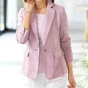 杢調メッシュ素材ジャケットアンサンブル ベルーナ 40代 50代 60代 レディース ミセス ファッション【タイムセール0511】