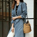 綿麻シャンブレーコート ベルーナ べるーな  30代 ファッション レディース アウトレット【再販売】 綿
