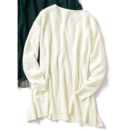 カシミヤタッチフレアニットチュニック ベルーナ ラナン Ranan 30代 40代 ファッション アウトレット カシミヤタッチフレアニットチュニック ベルーナ ラナン Ranan 30代 40代 ファッション アウトレット タイムセール 再販売