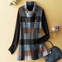 ブロックプリントプリーツアンサンブル ベルーナ 40代 50代 60代 レディース ミセス ファッション【再販売】 アウト…