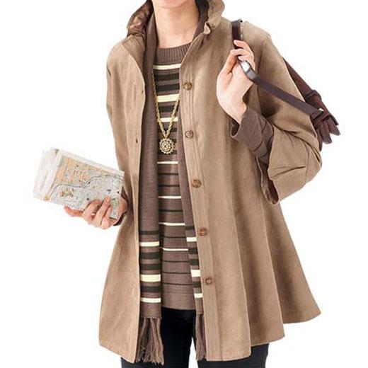 【3点セット】ストール付3点セットアンサンブル(8L〜10L) ベルーナ ルフラン 【40代 50代 60代 レディース ミセス ファッション】 大きいサイズ 秋 冬