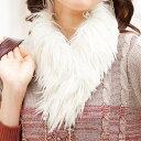 フェイクファーティペット【40代 50代 60代 レディース ミセス ファッション】【あったかアイテム】【再販売】