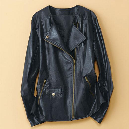 フェイクレザーデザインジャケット ベルーナ 40代 50代 60代 レディース ミセス ファッション アウトレット【アウター】 秋 冬 タイムセール 再販売
