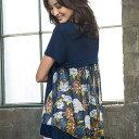 Tシャツ M LL L 3Lバック切替デザインTシャツ ベルーナ べるーな ラナン Ranan 30代 40代 ファッション レディース …