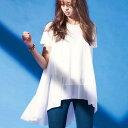 チュニック 3L異素材切替フレアーチュニック(3L) ベルーナ ラナン Ranan 30代 40代 ファッション レディース