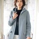 ウール調素材フードデザインコート(M〜LL) ベルーナ 40代 50代 60代 レディース ミセス ファッション