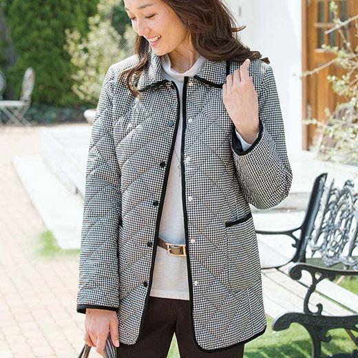 軽量中わたキルトジャケット(3L〜5L) ベルーナ 40代 50代 60代 レディース ミセス ファッション 大きいサイズ 秋 冬 あったか