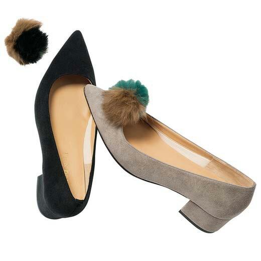 ●アウトレット●らくらくキレイなポンポン付パンプス ベルーナ 30代 40代 ファッション レディース 在庫処分 在庫限り SALE セール