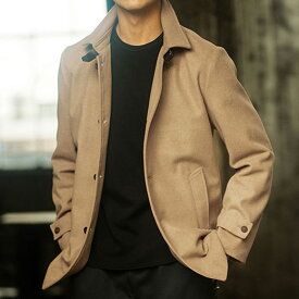 ●アウトレット●ウール混メルトンシングルコート ベルーナ 30代 40代 ファッション メンズ 在庫処分 在庫限り SALE セール 半額以下 小さいサイズ 【在庫残りわずか】