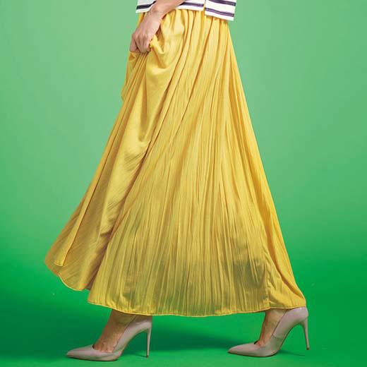 スカート 5L 4Lカットソーマキシスカート(4L〜5L) ベルーナ 30代 40代 ファッション レディース 大きいサイズ ラナン Ranan 春服 スカート ボトムス