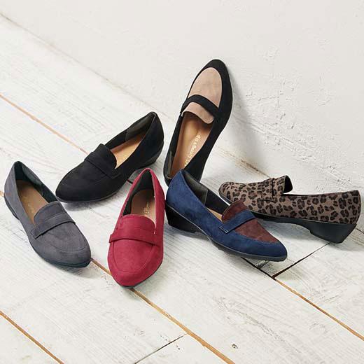 パンプス 25.0cm 24.5cm 24.0cm 23.5cm 23.0cm 22.5cm幅広ゆったりスニーカーパンプス(ローファー風) ベルーナ 30代 40代 ファッション レディース ラナン Ranan 春服 パンプス ヒール 靴