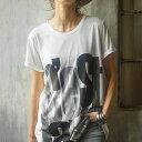 Tシャツ M LL L 3L ロング丈プリントゆるTシャツ ベルーナ ラナン Ranan 夏 30代 40代 ファッション レディース 女性 半袖 シャツ トップス 白 ★ 人気 定番 ★