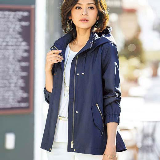 ジャケット 夏 M LL Lサイズ ジッパー使いマウンテンパーカー(M〜LL) ベルーナ Belluna 40代 50代 60代 レディース 女性 ミセス ファッション