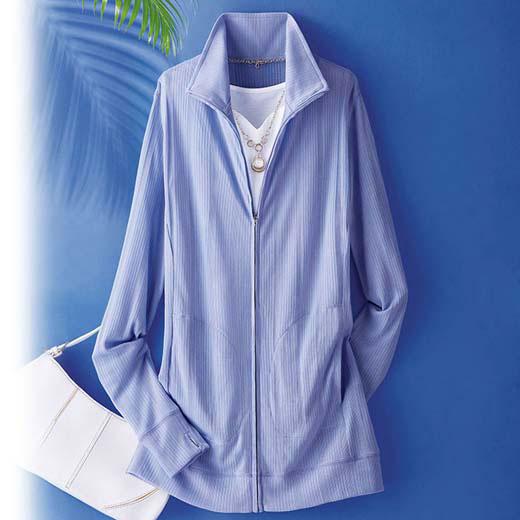 パーカー 夏 M LL Lサイズヒンヤリ冷感!UV対策ジップアップジャケット(M〜LL) ベルーナ 40代 50代 60代 レディース 女性 ミセス ファッション 接触冷感 涼しい 冷感 ひんやり