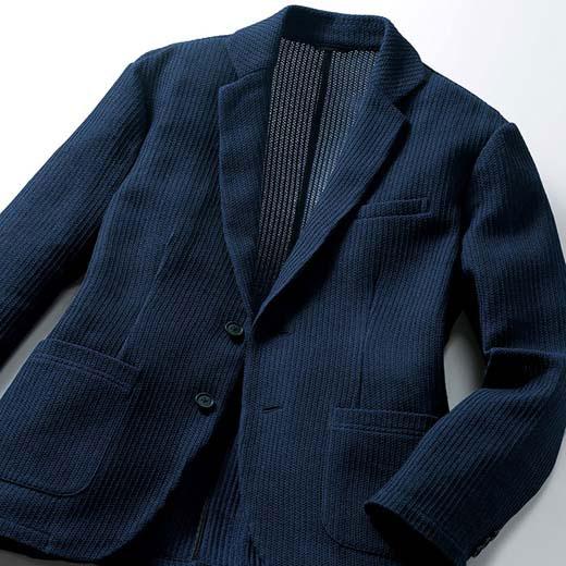ジャケット S M LL L 3L 大人の上品ニットジャケット ベルーナ 40代 50代 60代 紳士 夏服 ファッション メンズ メンズライフ ファッション ジャケット おじいちゃん プレゼント