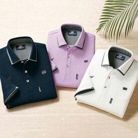ポロシャツ S M LL L 3L <ミチコ ロンドン ジーンズ>エンブロイドデザインポロシャツ ベルーナ 40代 50代 60代 紳士 夏服 ファッション メンズ メンズライフ ファッション ポロシャツ おじいちゃん プレゼント 小さいサイズ