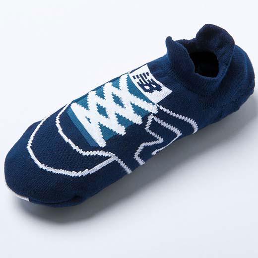 靴下 25〜27cm <new balance>スニーカーフィットソックス ベルーナ 40代 50代 60代 ミセス ファッション 靴下 メンズ 黒