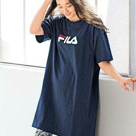 Tシャツ 3L 4L 5L<FILA>ビッグシルエットTシャツ(3L〜5L) ベルーナ 40代 50代 60代 レディース ミセス ファッション 大きいサイズ シャツ トップス 夏 夏服 サマーセール Belluna