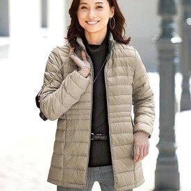 ジャケット 春 5L 4L 3Lサイズ軽量ダウンジャケット(ポーチ付)(3L〜5L) ベルーナ 40代 50代 60代 レディース ミセス ファッション 大きいサイズ Belluna