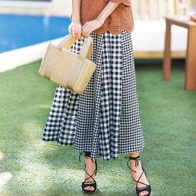 フレアースカート S M LL L切替デザインフレアースカート(S〜LL) ベルーナ Belluna 40代 50代 60代 レディース ミセス ファッション 夏服 スカート ボトムス 小さいサイズ