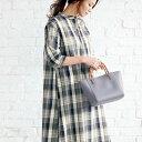 ワンピース M LL L綿混素材サイドスリットワンピース(M〜LL) ベルーナ 40代 50代 60代 レディース ミセス ファッション 夏服 ワンピース 大人