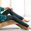 スパッツ 5L 4L 3Lデニム調レギンス(3L〜5L) ベルーナ 40代 50代 60代 レディース ミセス ファッション 大きいサイズ 夏服 スパッツ パンツ