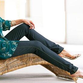 スパッツ 5L 4L 3Lデニム調レギンス(3L〜5L) ベルーナ 40代 50代 60代 レディース ミセス ファッション 大きいサイズ 夏服 スパッツ パンツ Belluna