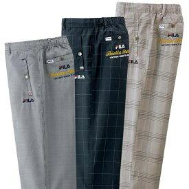 パンツ S M LL L 3L【3本組】<フィラ>チェック柄アクティブ裏メッシュパンツ ベルーナ 40代 50代 60代 メンズ 男性 紳士 ファッション 夏服 パンツ 小さいサイズ