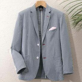 ジャケット S M LL L 3L<ダンロップ・モータースポーツ>袖丈選べる爽やかテーラードジャケット ベルーナ 40代 50代 60代 メンズ 男性 紳士 ファッション 夏服 ジャケット アウター 小さいサイズ サマーセール