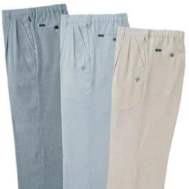パンツ S M LL L 3L【3本組】爽やかコードレーンパンツ ベルーナ 40代 50代 60代 メンズ 男性 紳士 ファッション 夏服 パンツ 小さいサイズ ズボン
