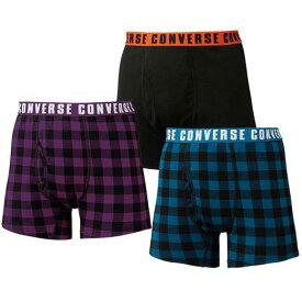 ボクサーパンツ M LL L 3L【3枚組】<コンバース>さらっと快適ボクサーパンツ ベルーナ 40代 50代 60代 メンズ 男性 紳士 ファッション 夏服 ボクサーパンツ 下着 インナー
