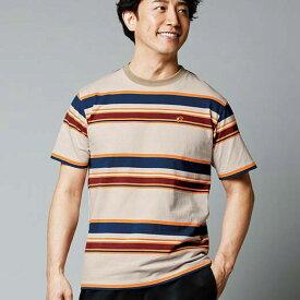 Tシャツ M L LL<HANGTEN>半袖クルーTネックシャツ(M〜LL) ベルーナ 40代 50代 60代 ファッション Tシャツ メンズ 男性 紳士 ベージュ 夏 夏服
