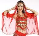 【839】ベリーダンス ベール ゴールドコインのヘッドアクセサリー付き シフォンベール!ベリーダンス衣装 ダンス衣装 …