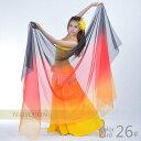 【1R-780】【メール便 送料無料】シフォンベール ベリーダンス衣装 ダンス衣装 舞台衣装 ステージ衣装 レッスン アク…