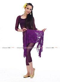 【920】【メール便OK】ベリーダンス ヒップスカーフベリーダンス 衣装★バラ柄レーススカート