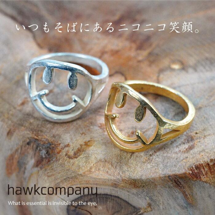 【メール便送料無料】 Hawk company ホークカンパニー『ニコちゃんモチーフリング6366』【指輪 リング スマイルマーク かわいい リング レディース アクセサリー トレンド 人気 ピンキーリング】