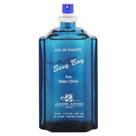 【10%offクーポン(要獲得) 11/20 18:00〜11/21 9:59】 セクシーボーイ (テスター) EDT・SP 100ml [あす楽] 【ジャンヌアルテス】【香水 フレグランス】【メンズ・男性用】【セクシーボーイ 】【JEANNE ARTHES SEXY BOY FOR MEN ONLY EAU DE TOILETTE SPRAY TESTER】
